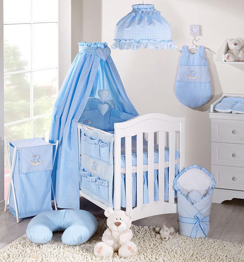 parure de lit b 233 b 233 brod 233 e bleu 14ps linge de lit pour b 233 b 233 140 70cm 120 60cm ebay