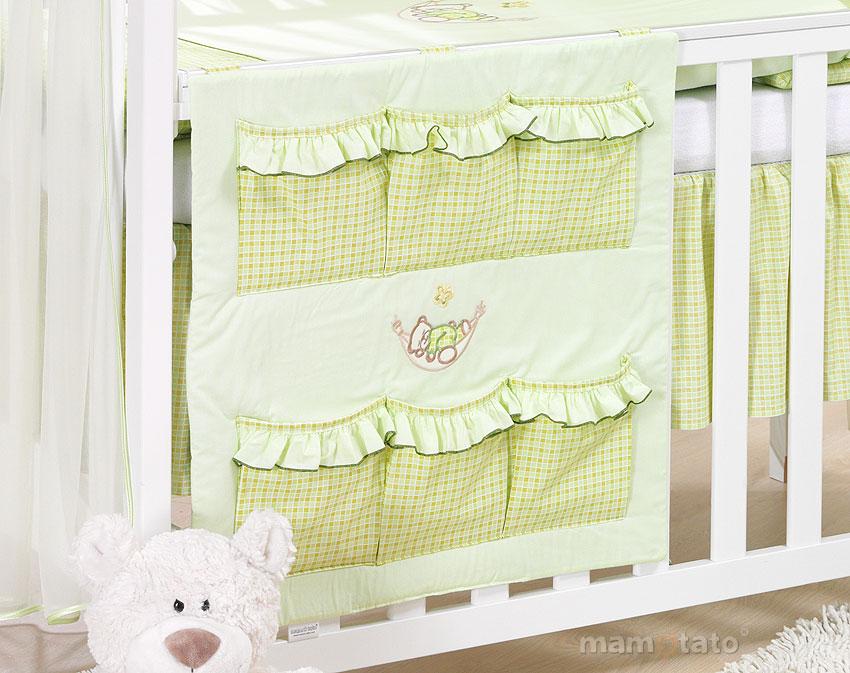 parure de lit b b brod e verte 14ps linge de lit pour b b 140 70cm 120 60cm. Black Bedroom Furniture Sets. Home Design Ideas